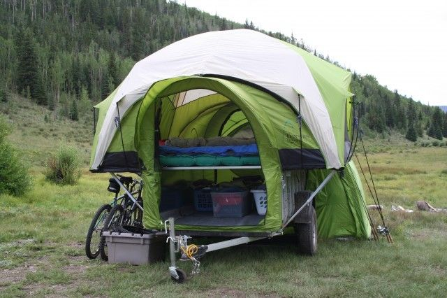 This multifunction cargo utility and toy hauling trailer is a workhorse that converts into a compact tent trailer roomy enough to sleep four. & Tent-Trailer-Camping-Colorado-Camping-Spots.jpg | Trailer Ideas ...