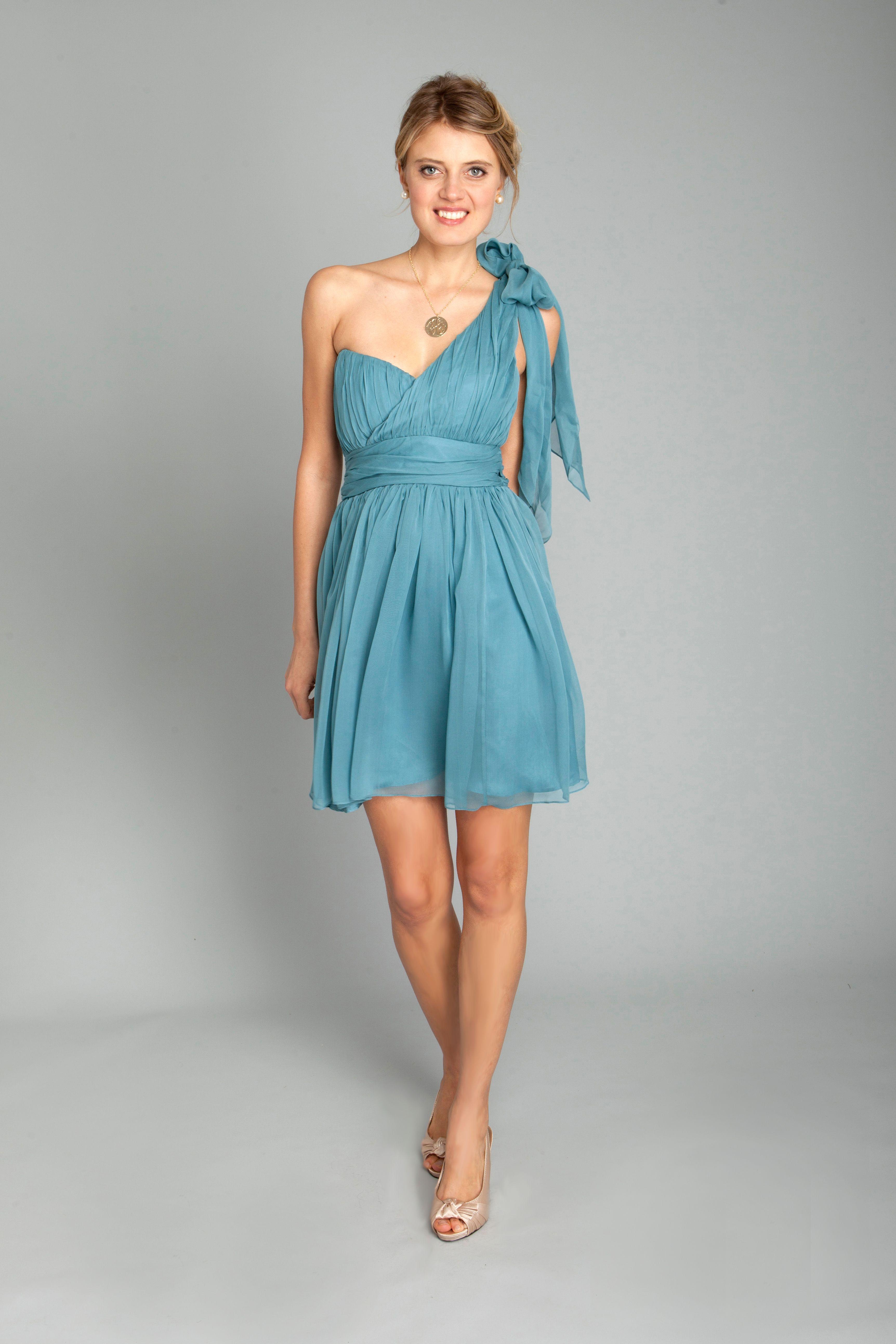bridesmaid dress, classic, cocktail, preppy, blue, bridesmaids ...