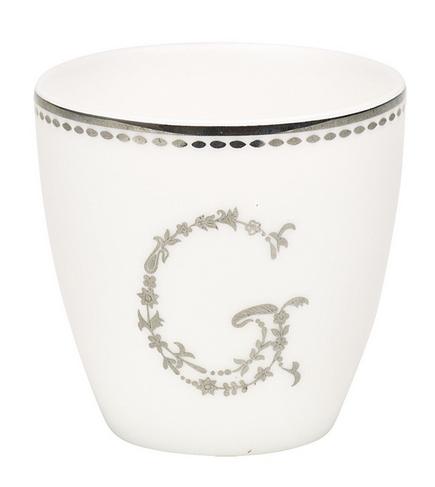 Greengate Espressotassen green gate latte becher g in silver greengate winter 2015