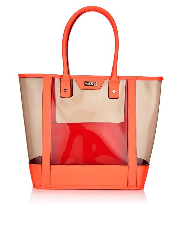 b7e95767f Lipsy Neon Beach Bag | Stuff to Buy | Beach tote bags, Neon bag, Bags