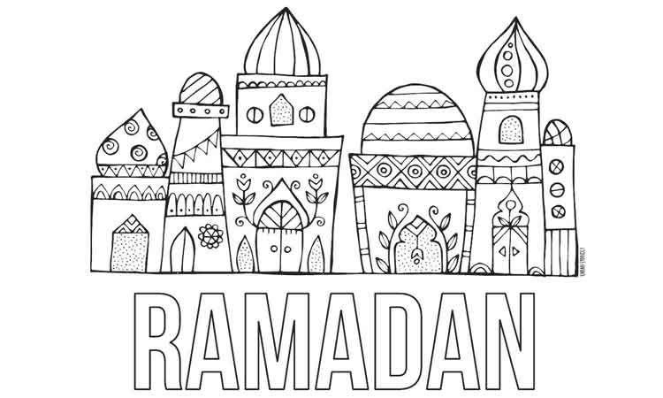 30 Gambar Masjid Warna Hitam Putih Di 2020 Ramadan Warna Buku