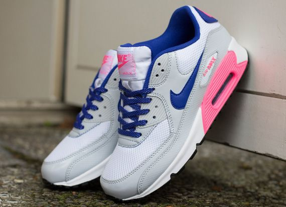 all pink nike air max 90 gs blue