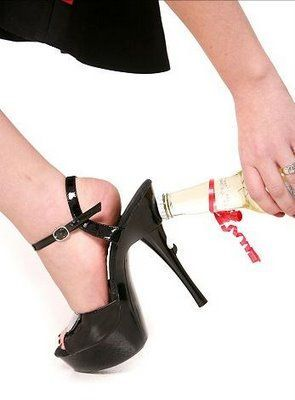 Bottle opener shoe