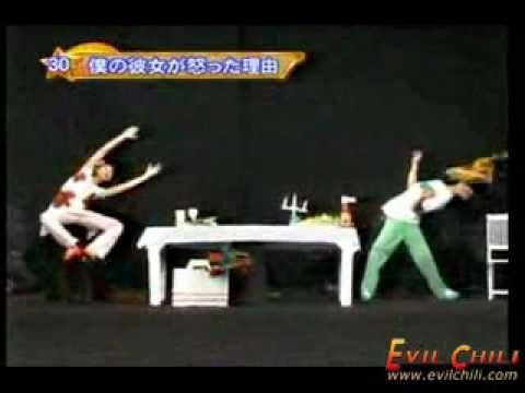 Japanese fun art performance