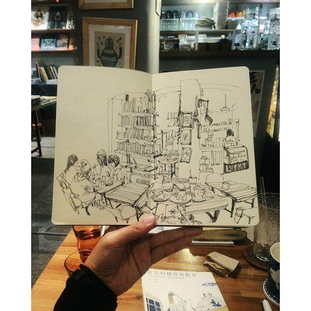 #生活在他方 #murmur #vscocam #usk #urbansketch #urbansketchers #sketchbook #sketch #sketchwalker #diary #drawing #painting #watercolor #archisketcher #sketchoftheday #dailysketch #sketchwalker #stationery #doodle #文房具 #橘枳 #繪日記 #絵日記 #手帳 #橘逾淮為枳