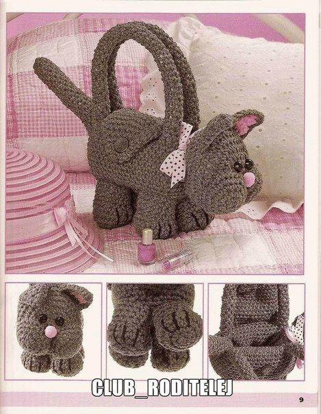 b17888612a50 Детские сумочки   Вязание для девочек   Вязание спицами и крючком. Схемы  вязания.