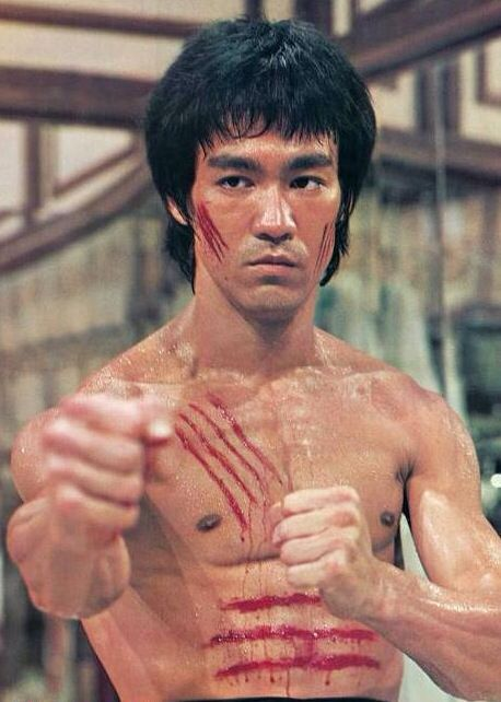 Image result for bruce lee pics scrapes on chest