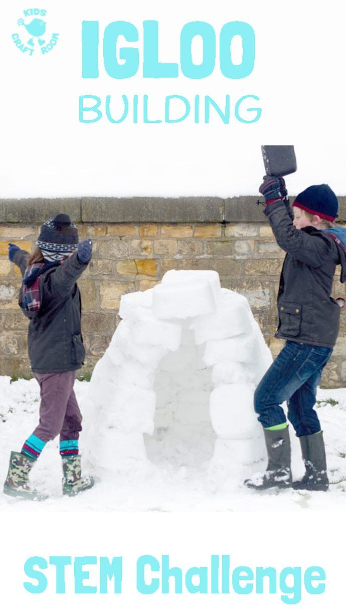 HOW TO BUILD AN IGLOO? This Winter build an igloo STEM challenge gives kids the opportunity to explore and test their ideas, evaluate and problem solve whilst having lots of fun!
