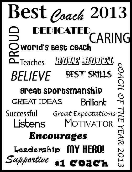 Best Coach Message Frame. Have the team sign it and then frame it ...