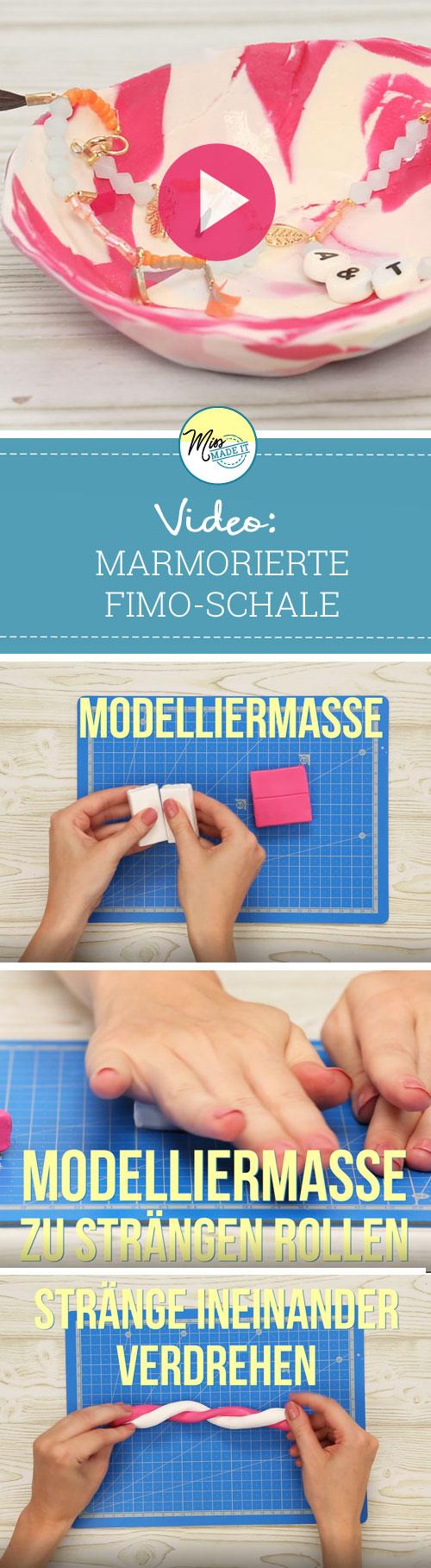 Video-Tutorial: Fimo Schale im Marmor-Look