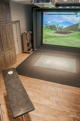 Hobby Game Room For Golfers Golf Room Golf Simulator Room Home Golf Simulator