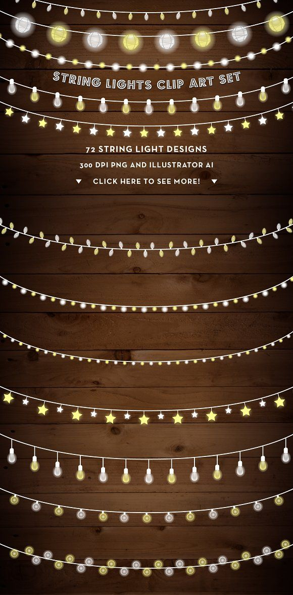 String Lights Clip Art Set