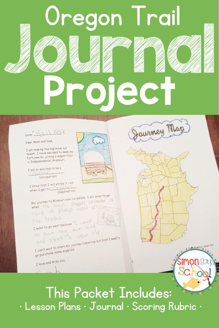 Oregon Trail Journal Project for Westward Expansion Unit
