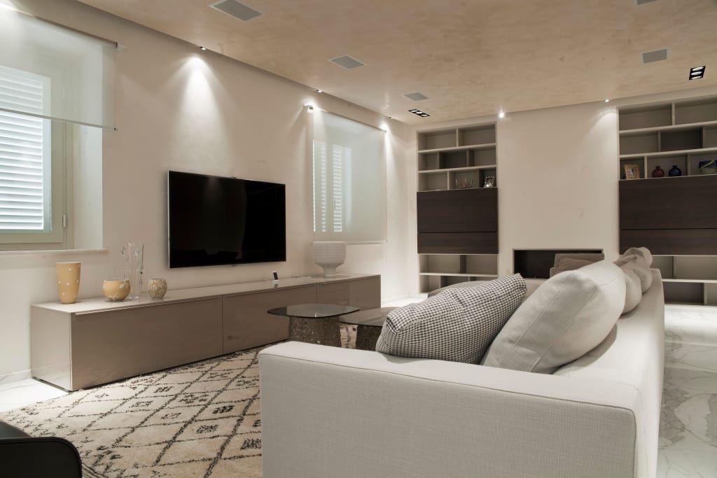 Sala Para Tv Moderna.22 Disenos De Salas De Tv Para Casas Modernas Casa