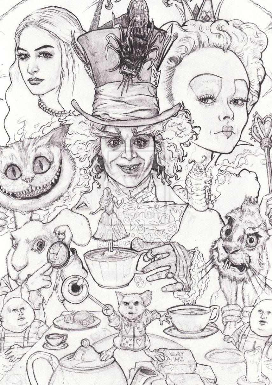 Best Tattoo Ideas For Men Tattoo Ideas In 2021 Alice In Wonderland Drawings Alice And Wonderland Tattoos Alice In Wonderland Artwork
