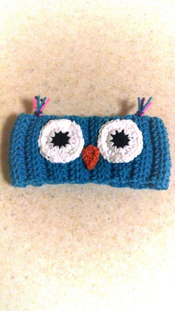 Owl Ear Warmer Headband Crochet Children\'s Headband Owl Accessory on ...