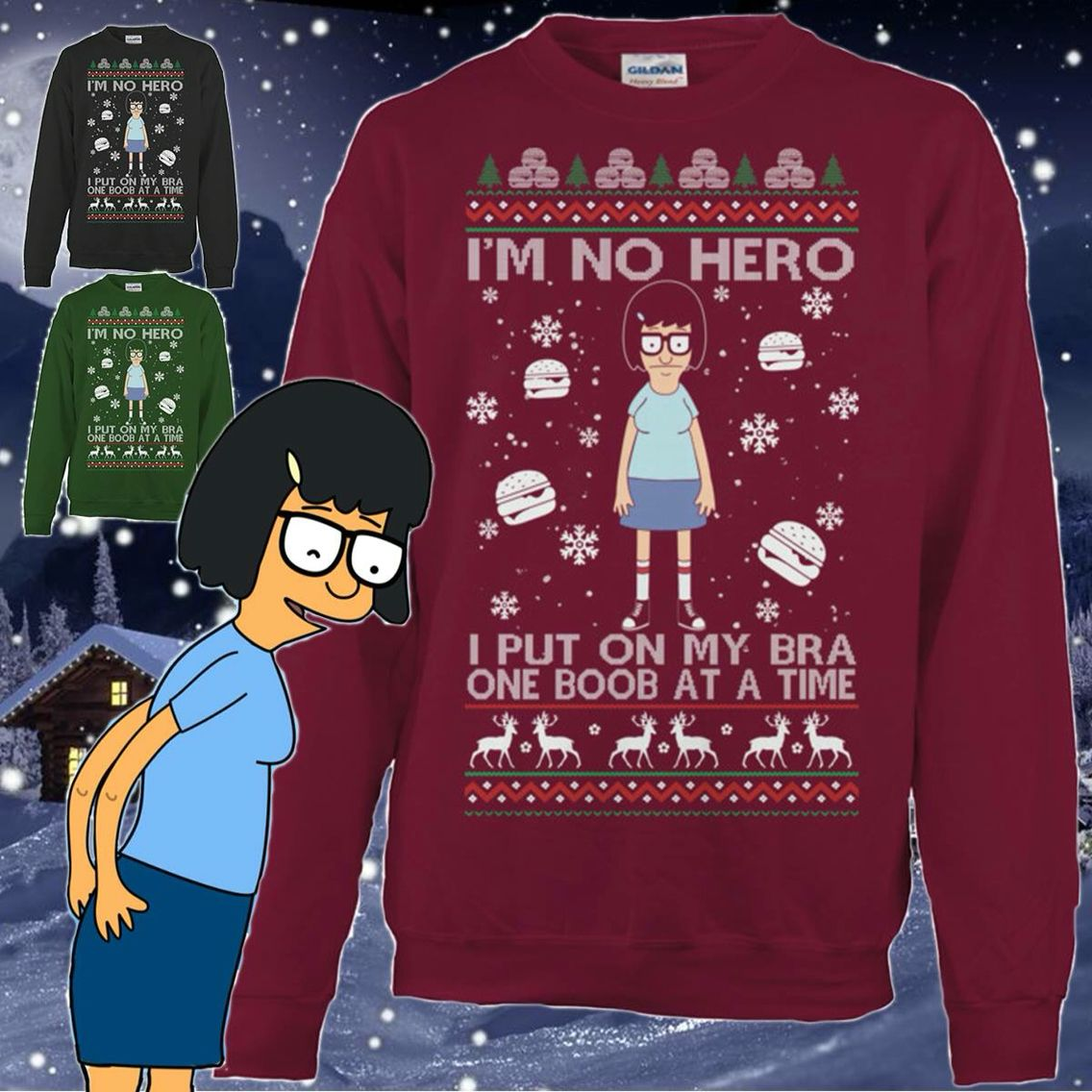 Tina Belcher ugly Christmas sweater | Cute Clothes/Accessories ...