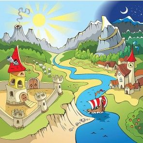 Fairy Tale Land Wallpaper Wall Mural By Magic Murals