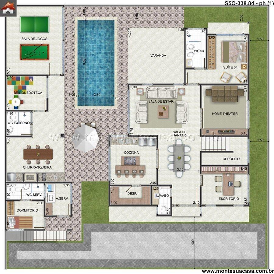 Typical Box Type House Designs 5 20: Planta De Sobrado