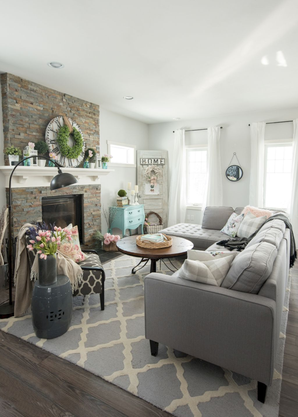 40 Beauty French Country Living Room Decor and Design Ideas | French ...