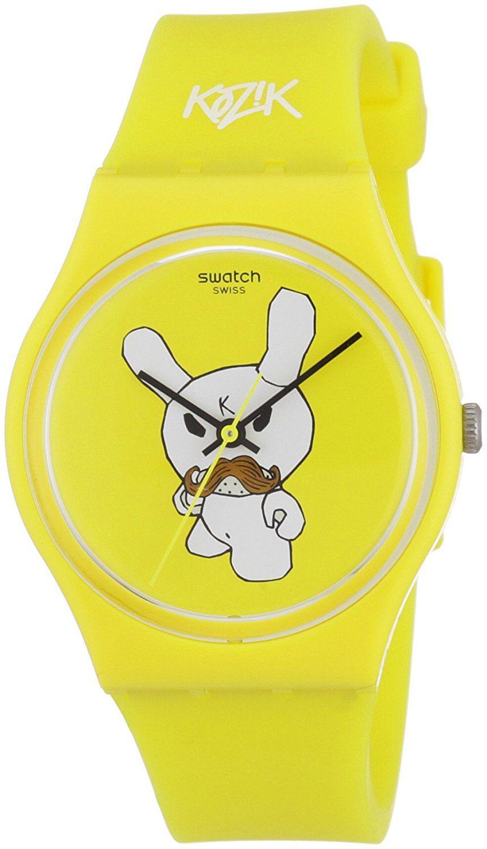 c2da88ed123c kidrobot for Swatch GJ130 - Reloj analógico unisex de cuarzo con ...