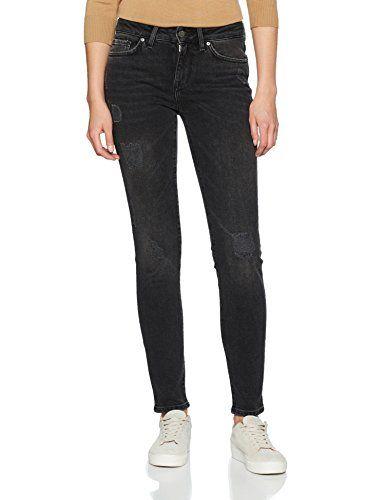 schwarze kinny jeans tommy hilfiger