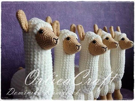 Easy Amigurumi Pdf : Pattern llama or alpaca llampaca crochet cute amigurumi