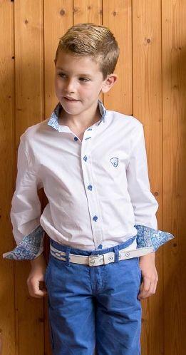 d47c6ffda5 Conjunto de bermuda y camisa blanco y color tinta para niños ...