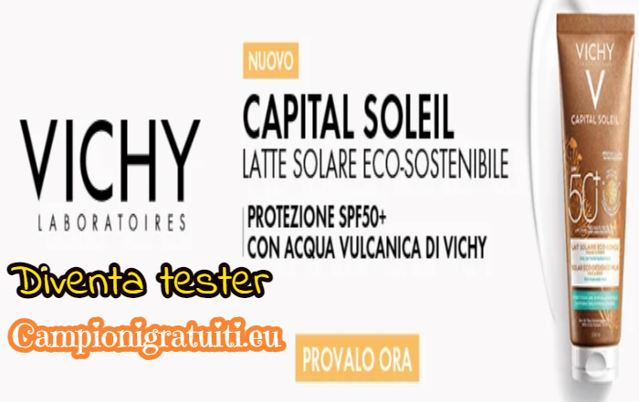 Diventa Tester Latte Solare Eco-Sostenibile SPF50+ Capital Soleil con Vichy