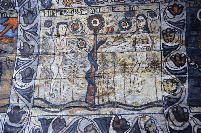Biserica de lemn din Deseşti, judeţul Maramureş - Unul din cele cinci episoade din Geneză