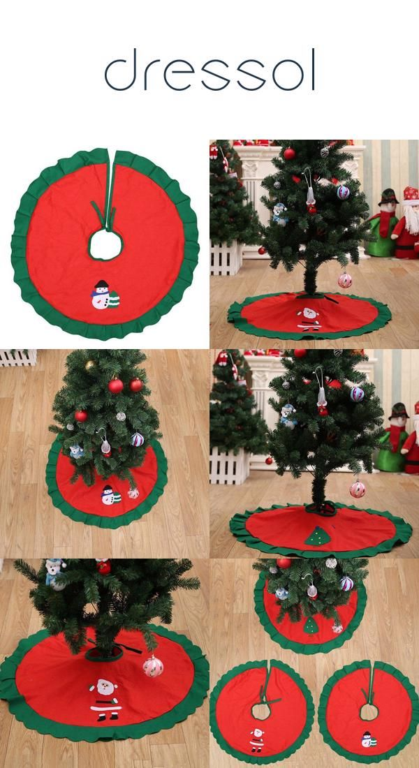 90cm non woven tree apron christmas decoration