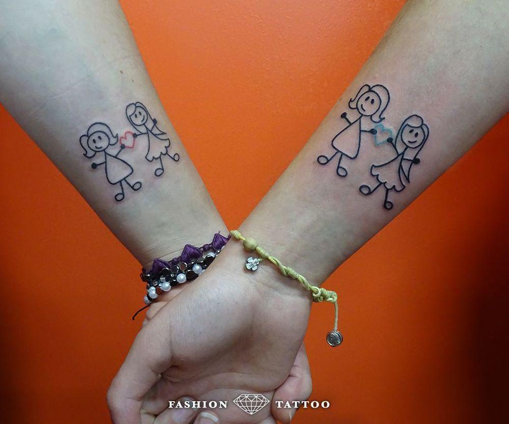 Tatuaggio Bambina Stilizzata Cerca Con Google Tatuaggi Sister