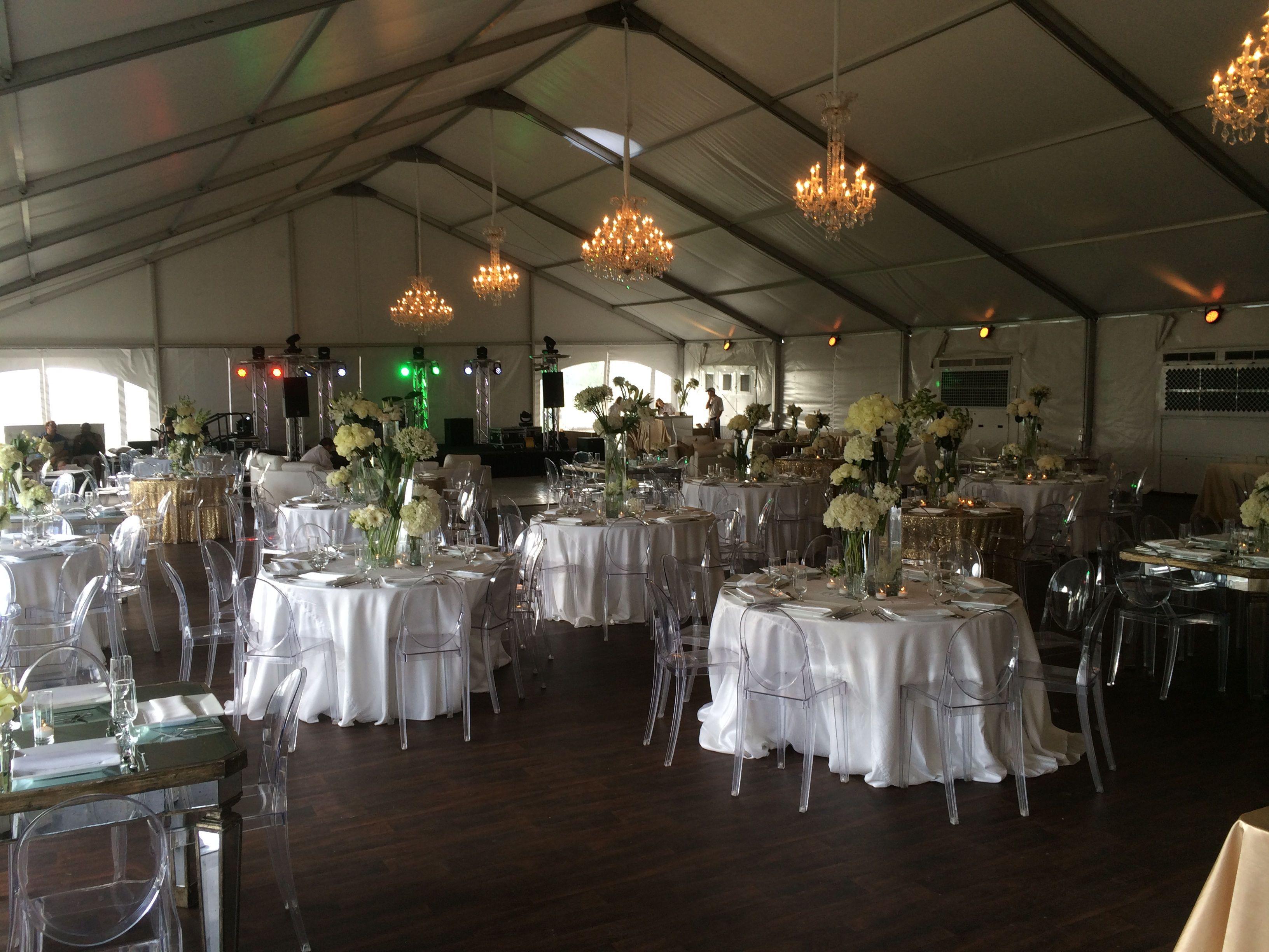 Inside wedding decoration ideas  Wedding reception under structure tent  Weddings u Reception Ideas