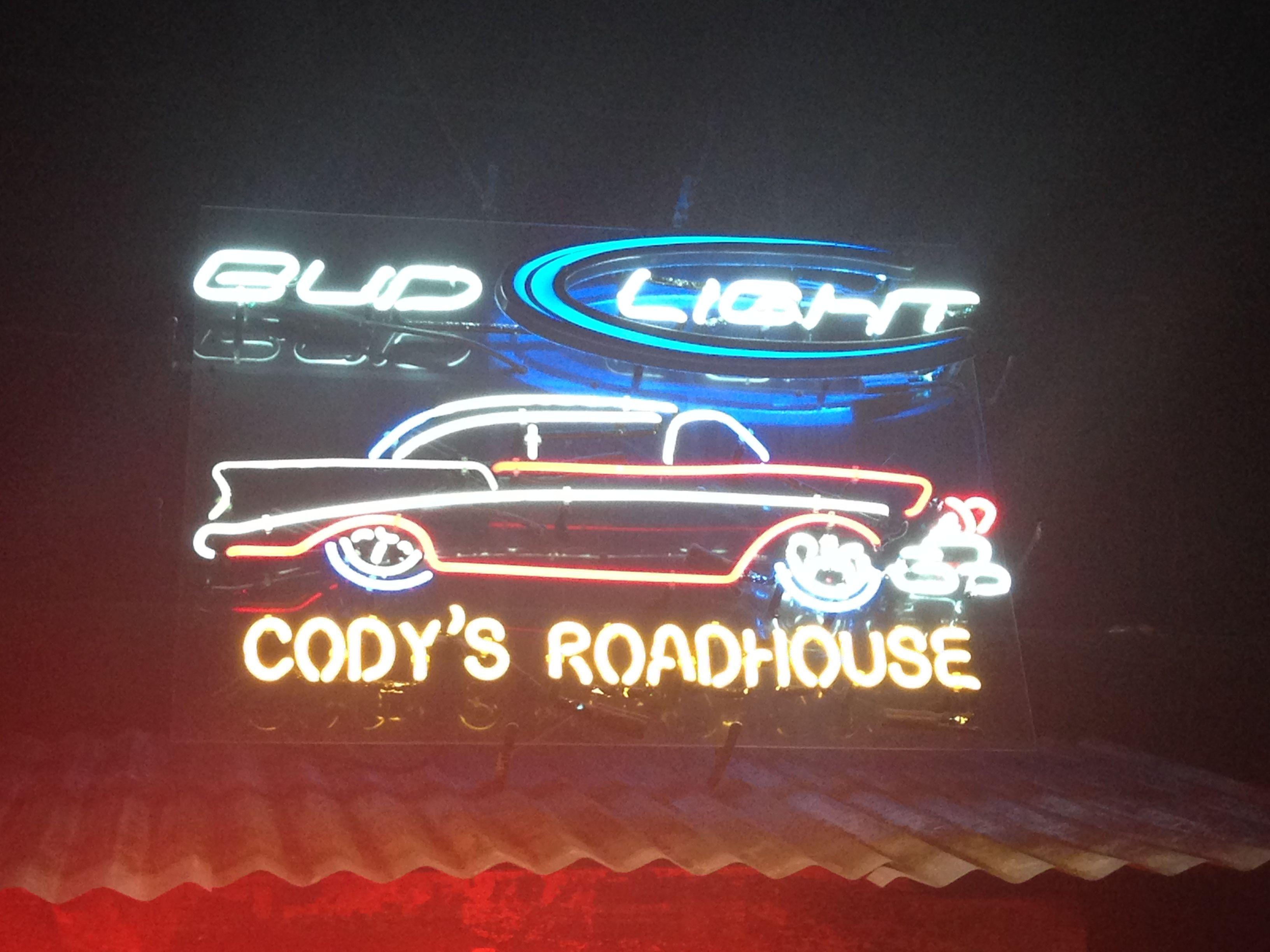 Neon Beer Sign Cody's Roadhouse Bud Light Neon beer