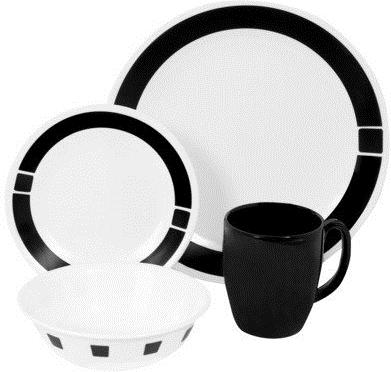 #Target                   #dinnerware               #Corelle #Livingware #Piece #Dinnerware #Urban #Black                         Corelle Livingware 16 Piece Dinnerware Set - Urban Black                                                http://www.seapai.com/product.aspx?PID=986011