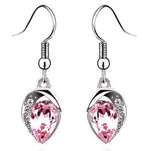 Crystal Long Water Drop Earings (Metal Color: E070) | To save upto 50% visit our website  uniquefashionusa.com