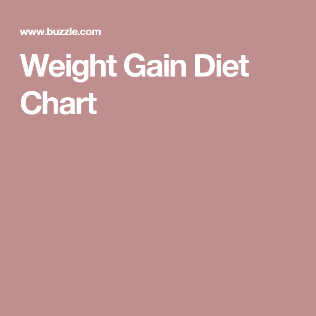 Weight Gain Diet Chart Weight Gain Diet Diet Chart And Weight Gain