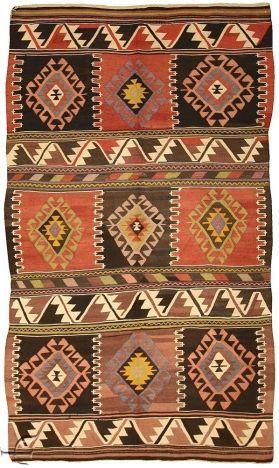 Turkish Rug Karakeceli Kilim Ковры En Pinterest Tapis - Carrelage terrasse et tapis chirvan ancien
