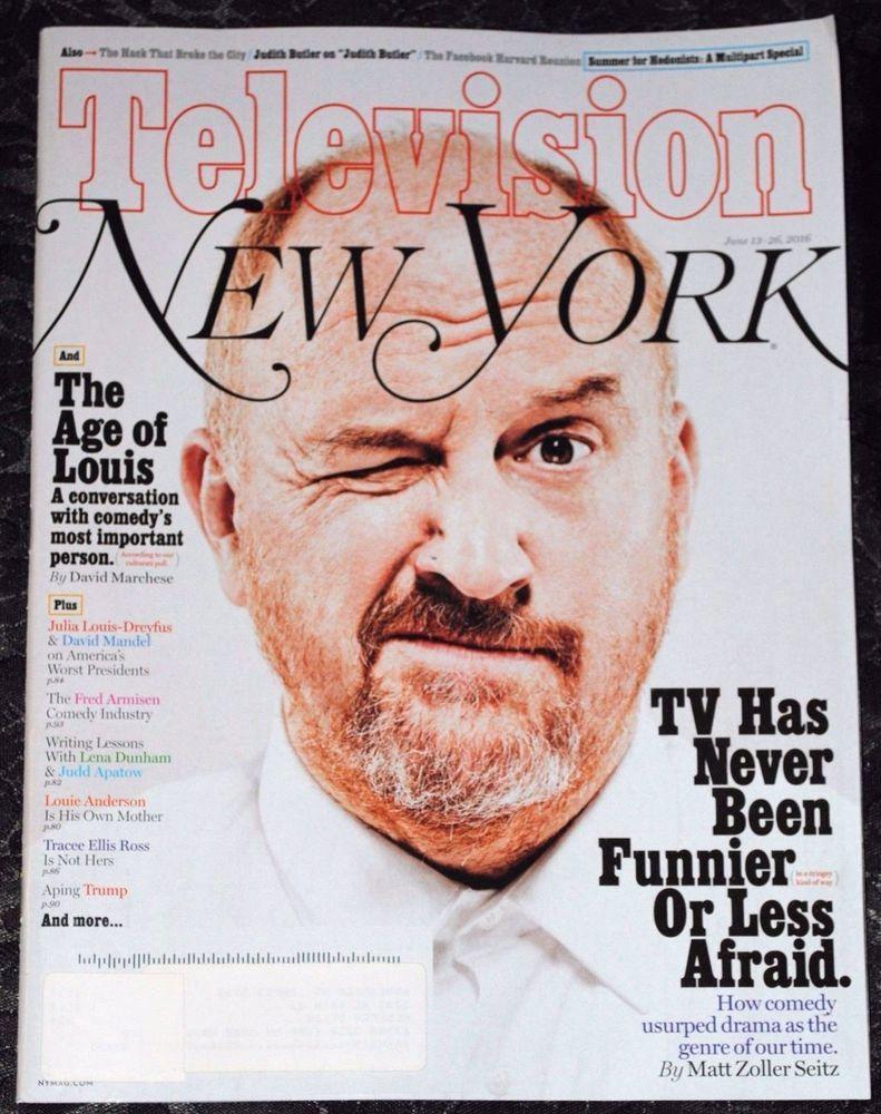 New York Magazine June 13 26 2016 Louis Ck Comedy Classes Hillarious