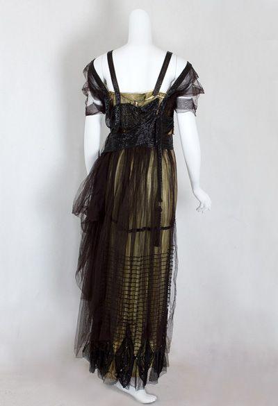 Gold Lame Vintage Evening Dresses