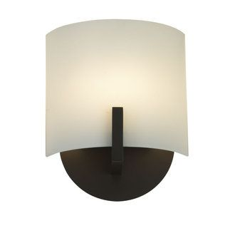 Single Light Xenon 8 Up Lighting Wall Sconce With Curved Shade From The Scudo Collection Sconces Wall Sconces Modern Sconces