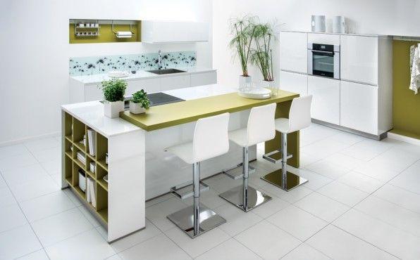 Ilot central pour manger idees cuisine cuisine ouverte - Meuble cuisine avec table escamotable ...