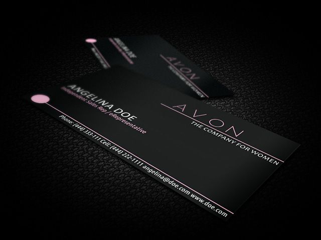 Stylish Black Avon Business Card Template Available For Free - Adobe illustrator business card template download