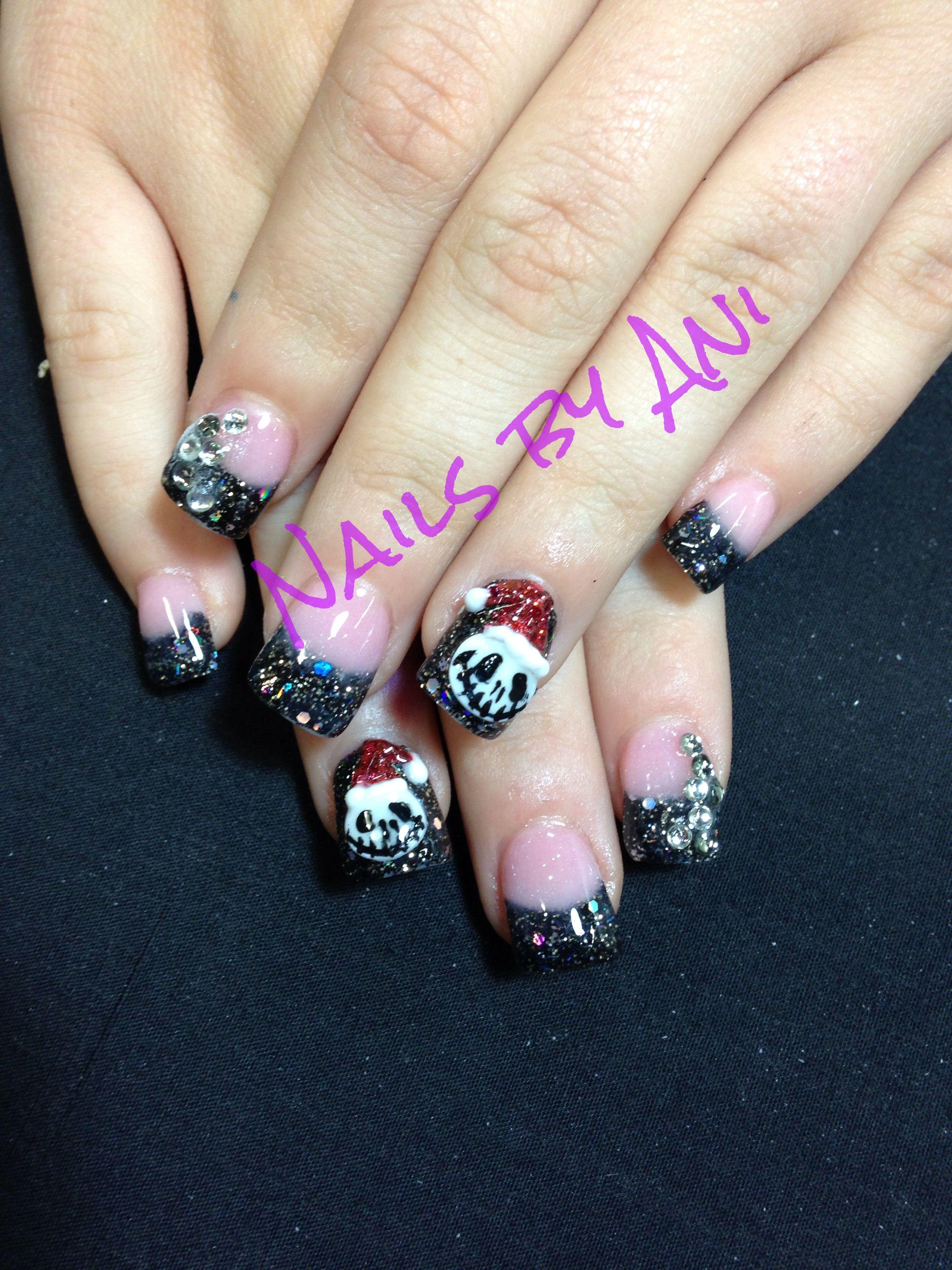 3d jack skellington nails | Acrylic nail designs | Pinterest | Jack ...