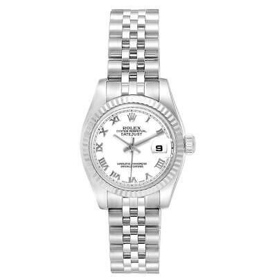@! Rolex Datejust 26 Steel White Gold Roman Dal Ladies