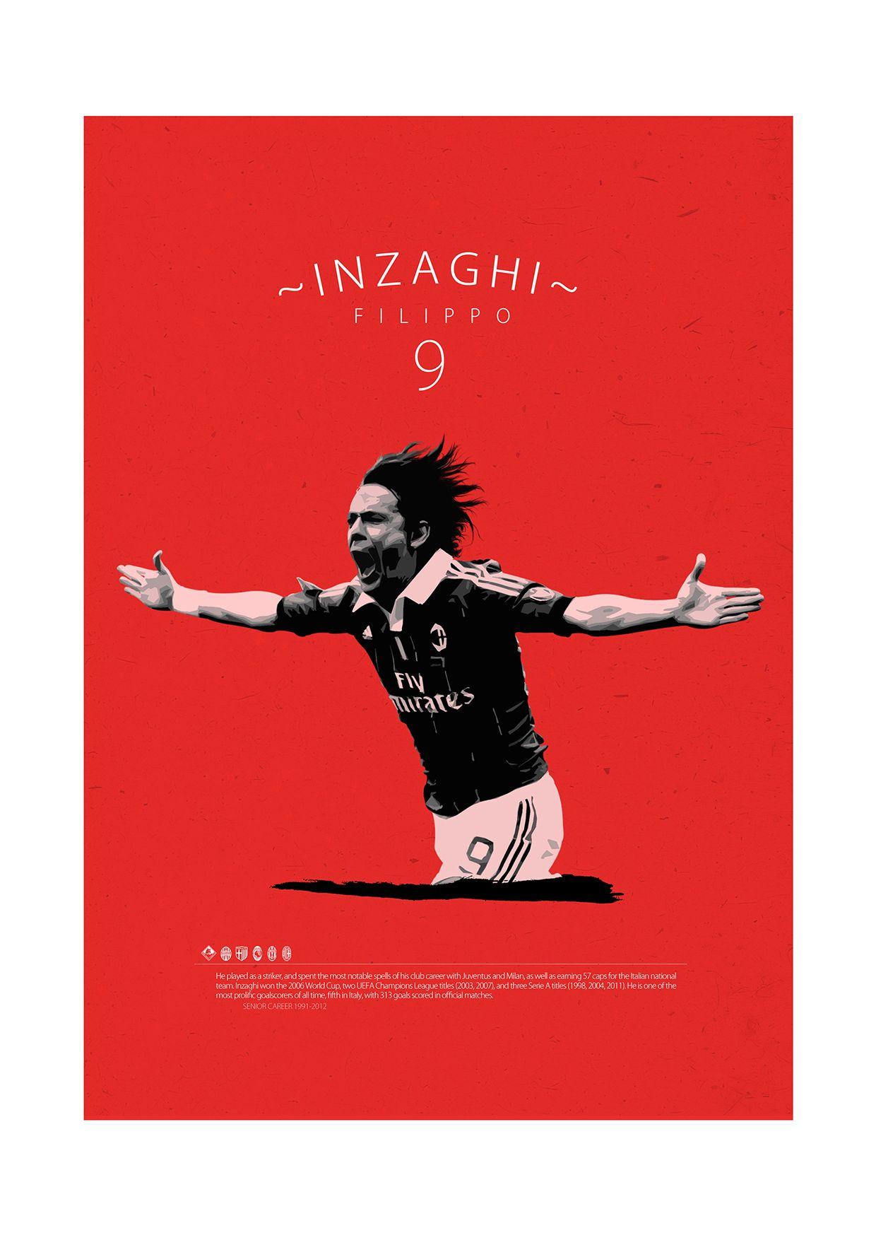 Soccer Legends Poster On Behance Filippo Inzaghi