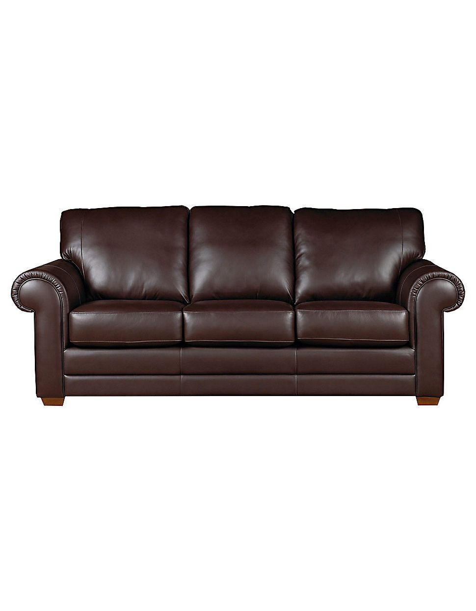 home furniture lake como leather sofa with rolled arms