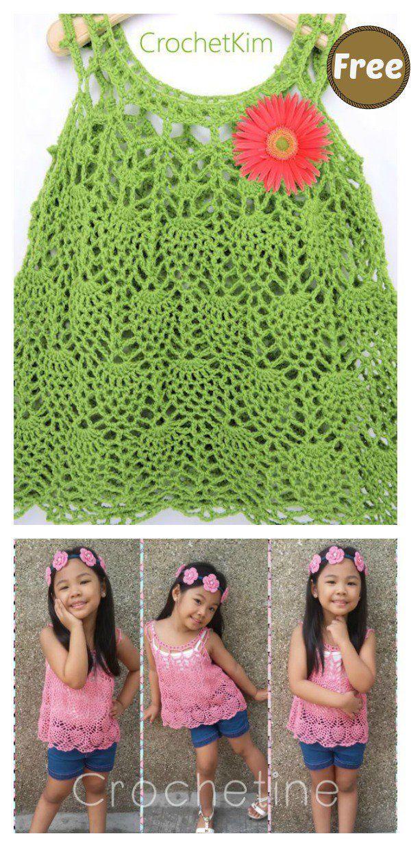 Pineapple Stitch Baby Dress Free Crochet Pattern | Crochet ...