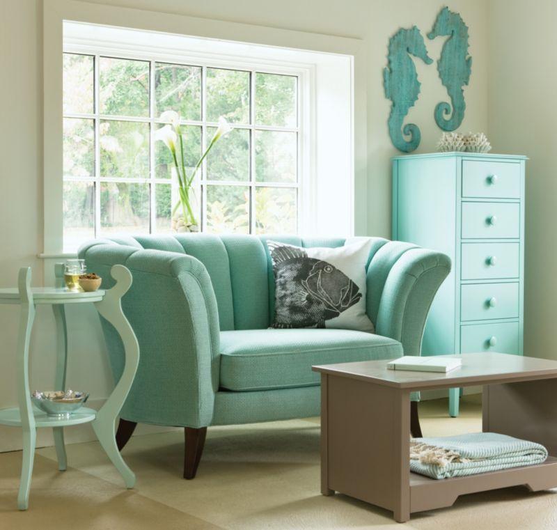 Venus Loveseat Maine Cottage Living Room Green Blue Paint Living Room Indian Living Rooms