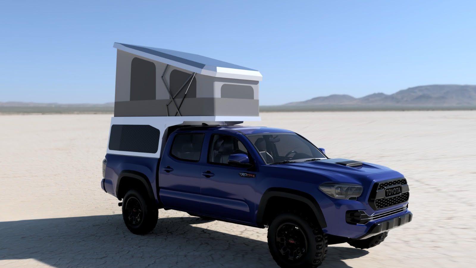 Leentu S 300 Pound Customizable Pop Up Camper Fits Trucks